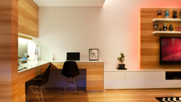 Wooden Apartment Decorating Fixonic Wood panel study
