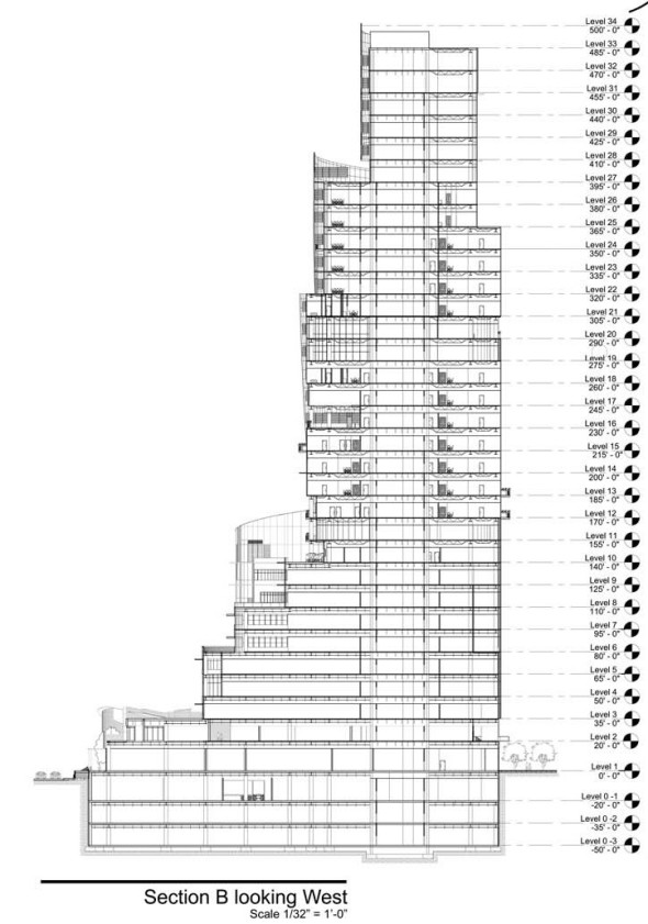 Section-B-Looking-South-Lakeside-Condominiums