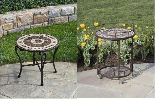 Two Small Bistro Tables