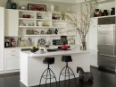 Functional open shelving idea
