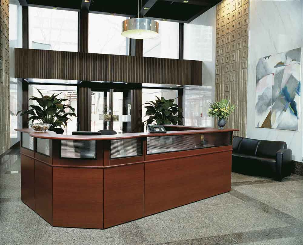 Laminate Reception Office Furniture Table
