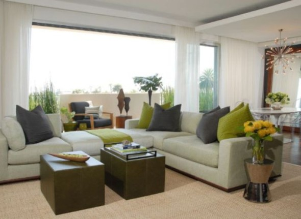 Green Living Room Accessories-Various Ideas