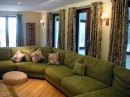 Green Sofa and Curtains-Various Ideas