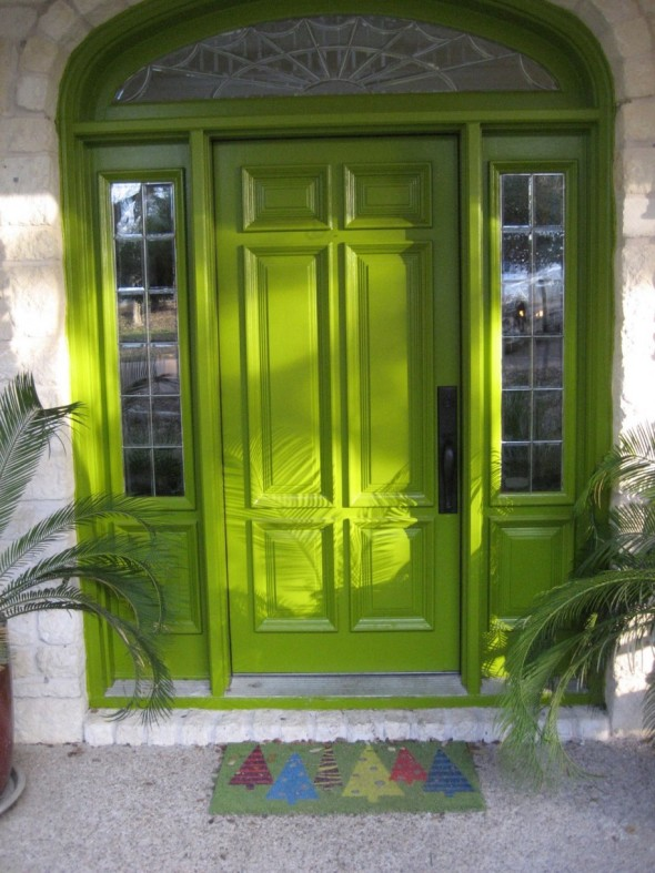 Green entry door-Various Ideas