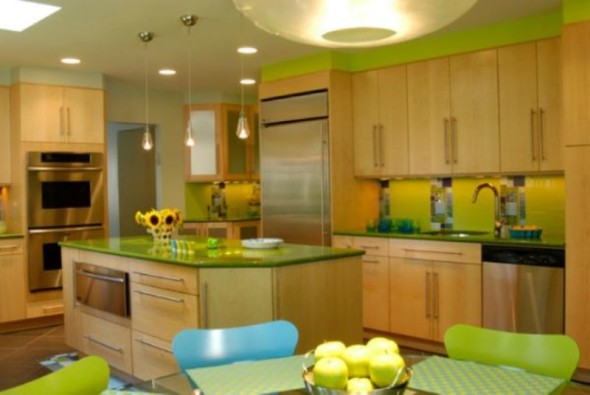 Green in the Kitchen-Various Ideas