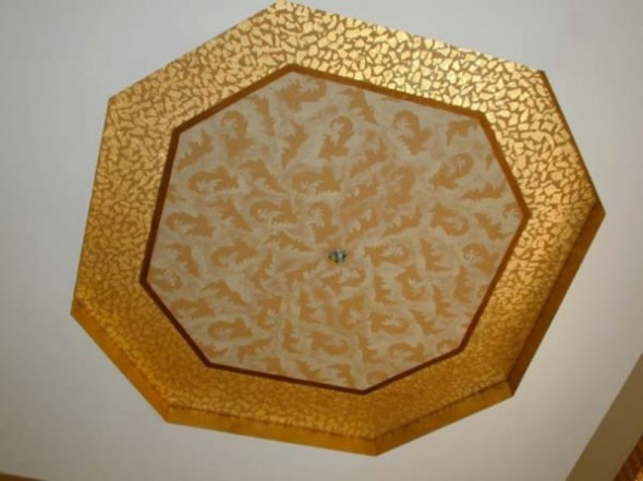 Leaves Edged with Gilt Work