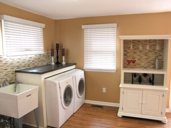 Laundry and Utility Space-Converting Basement