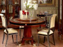 Beautifully Crafted Round Table with Inlay Details