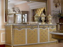 Cream Gold and Silver Sideboard with Mirror