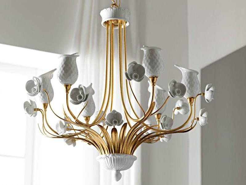 Elegant Mini Chandelier in Porcelain by leporcellane