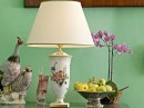 Funky Birds with Table Lamp by leporcellane