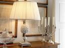Handsome Table Lamp with Candles by leporcellane