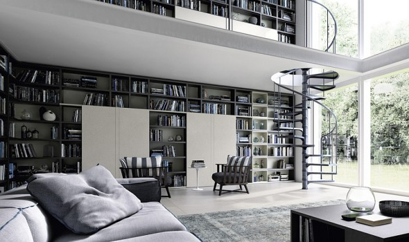 Library Wall Unit - Modern Furniture