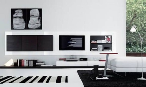 Regolo Sleek Wall Unit Collection - Modern Furniture
