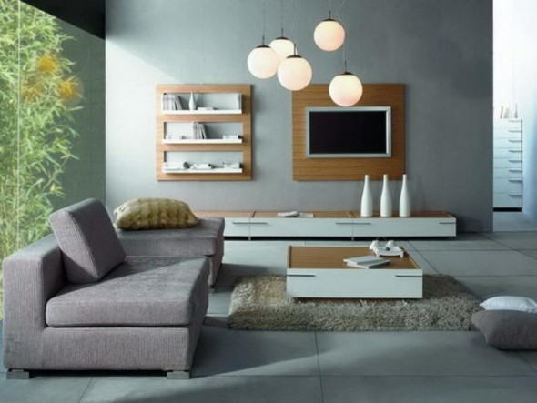 Wall Unit with Enclosed TV - Modern Furniture