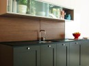 Wooden Backsplash Kitchen Countertops by Viola Park