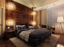 Distinct Wood Wall Accent Bedroom Decor
