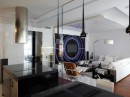 Elegant White Black Contemporary Living Room by Geometix