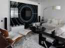 Living Room Decor White Black Contemporary by Geometix