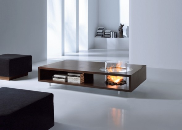 Coffee Table with Bio Ethanol Fire CID