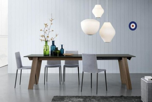 Dining Table Chair Wood White Combo