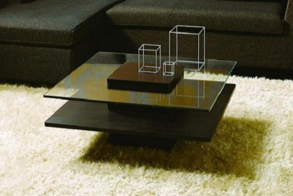 Coffee Table - Gorgeous Two Deck Table of Glass and Wood