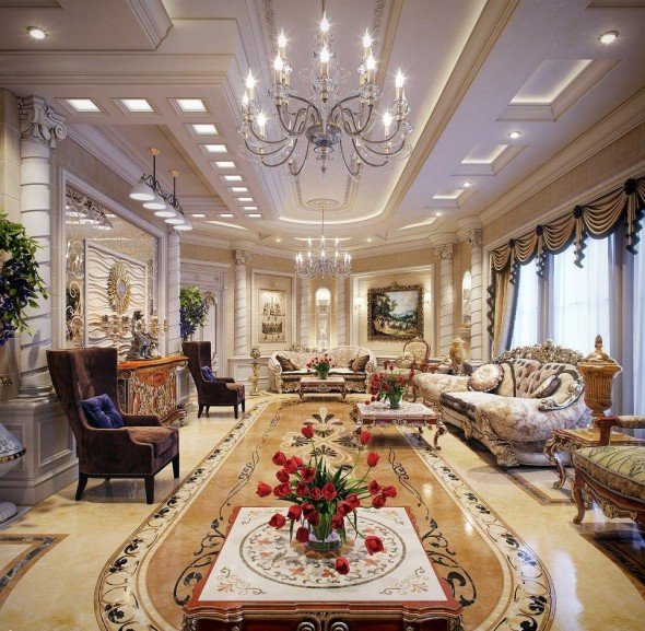 Luxurious House - living room