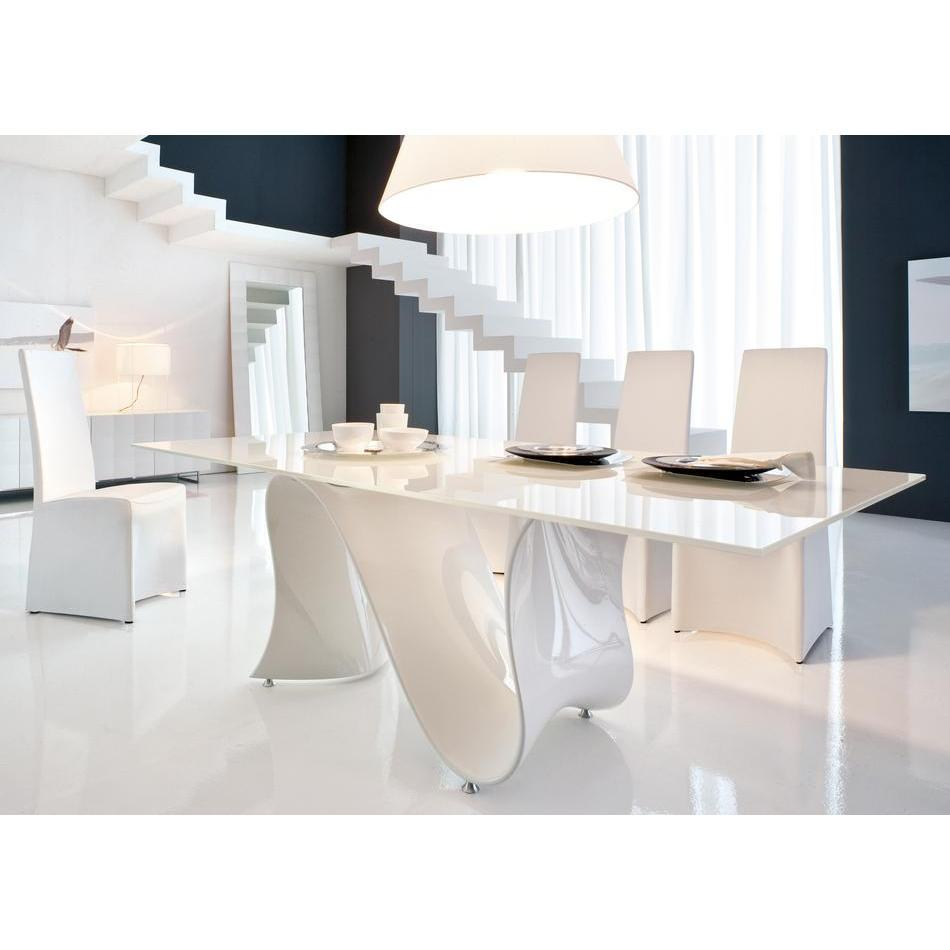 Dining white, Luxury Dining Table by Vimala Ramiah