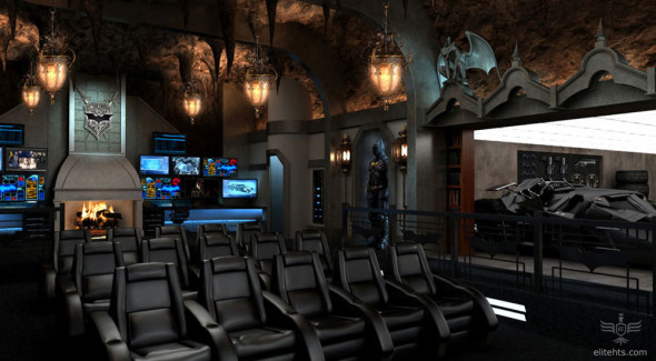 Dark Knight Themed Home Theater
