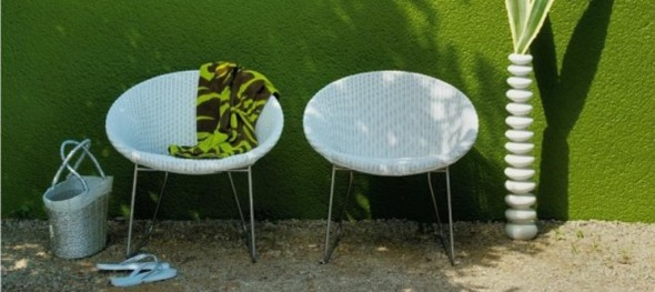 Deck Chairs in Synthetic Resin Wicker