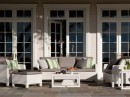 White Wooden Sofas with Cushions
