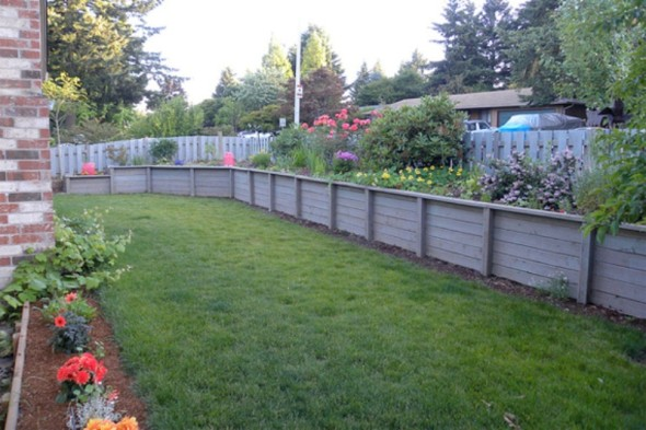 Wooden Wall-Retaining Wall Ideas
