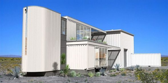 Container House In Mojave Desert By Ecotech Design