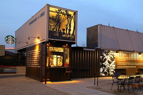 Starbucks Made From Shipping Containers