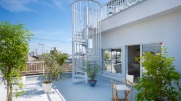 Balcony design for apartment Japanese