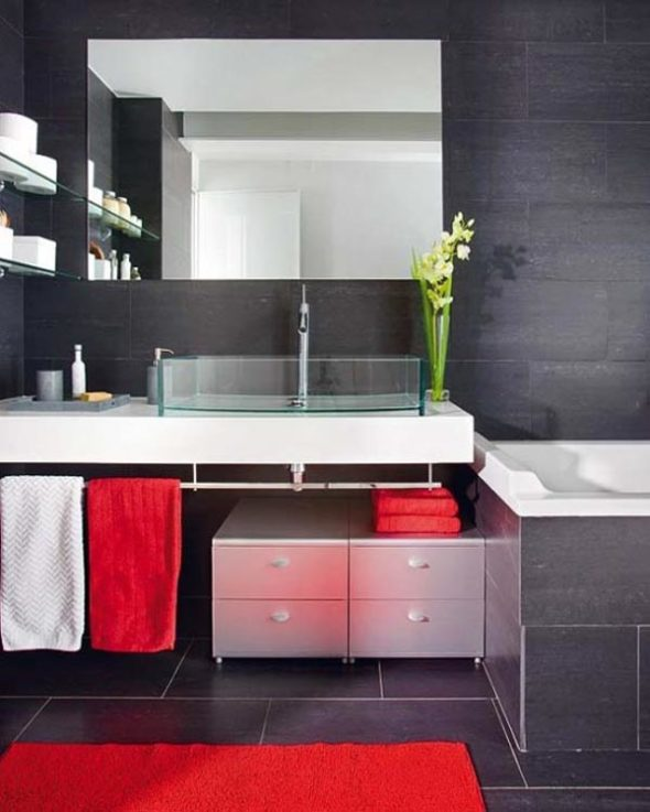 black wall interiors for a modern home