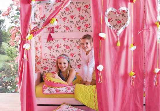 Cool Kids Room Beds With Nice Tents
