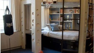 Corner Twin Beds and Lofted Bedroom