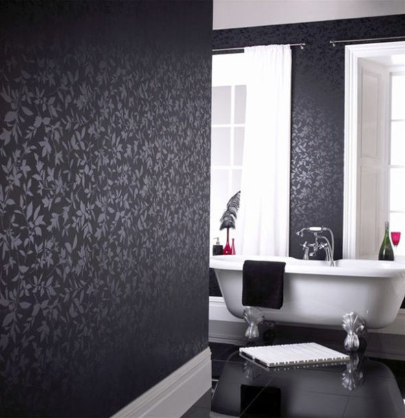 exquisite black wall interiors