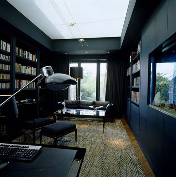 exquisite black wall interiors for a modern