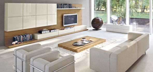 modern-living-room-storage-organization-noce-and-bianco-perla-glossy-lacquered