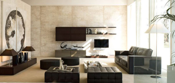 modern-living-room-storage-organization-rovere-moka-and-grigio-beige-glossy-lacquered