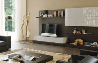 modern-living-room-storage-organization-rovere-moka-and-grigio-seta-glossy-lacquered