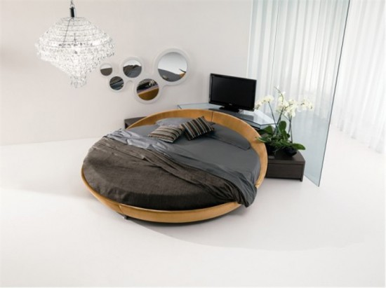 Innovative Elegant Round Bed Design