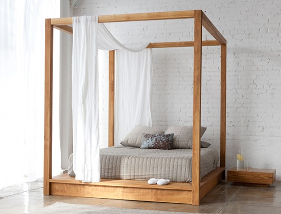 Simply modern canopy bed