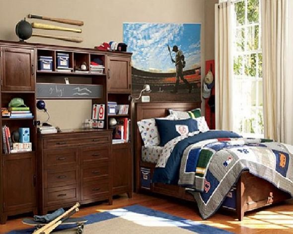 Cool Modern Teenage Boy Bedroom Furniture Idea Image : Pictures ...