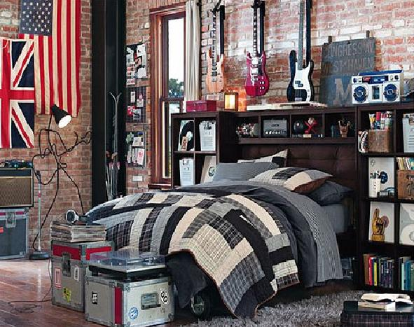 Gallery Decorating Teenage Boy Bedroom Furniture, Funky and ...