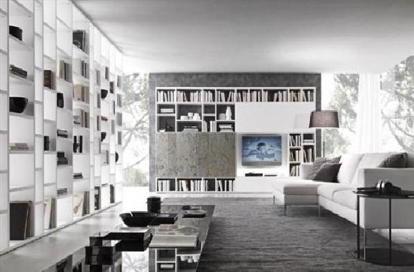 Pleasing Library Living Room Design Presotto Italia Image Pictures Largest Home Design Picture Inspirations Pitcheantrous