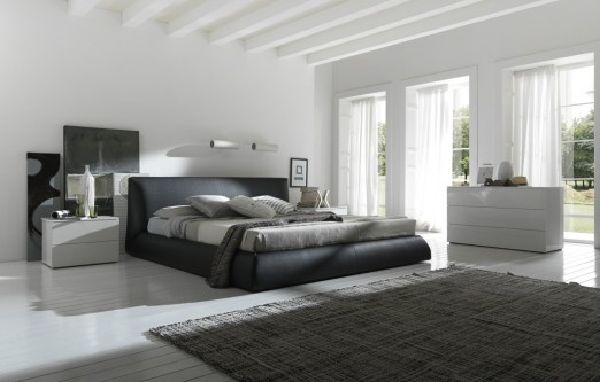 Modern Bedroom White black bed white modern bedroom image : pictures & photos | high