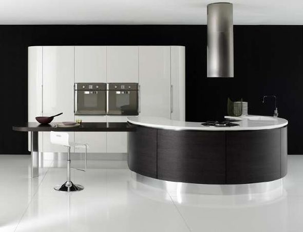 elegan black white kitchen design ideas image : pictures & photos